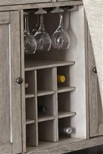 Bottle storage and stemware rack