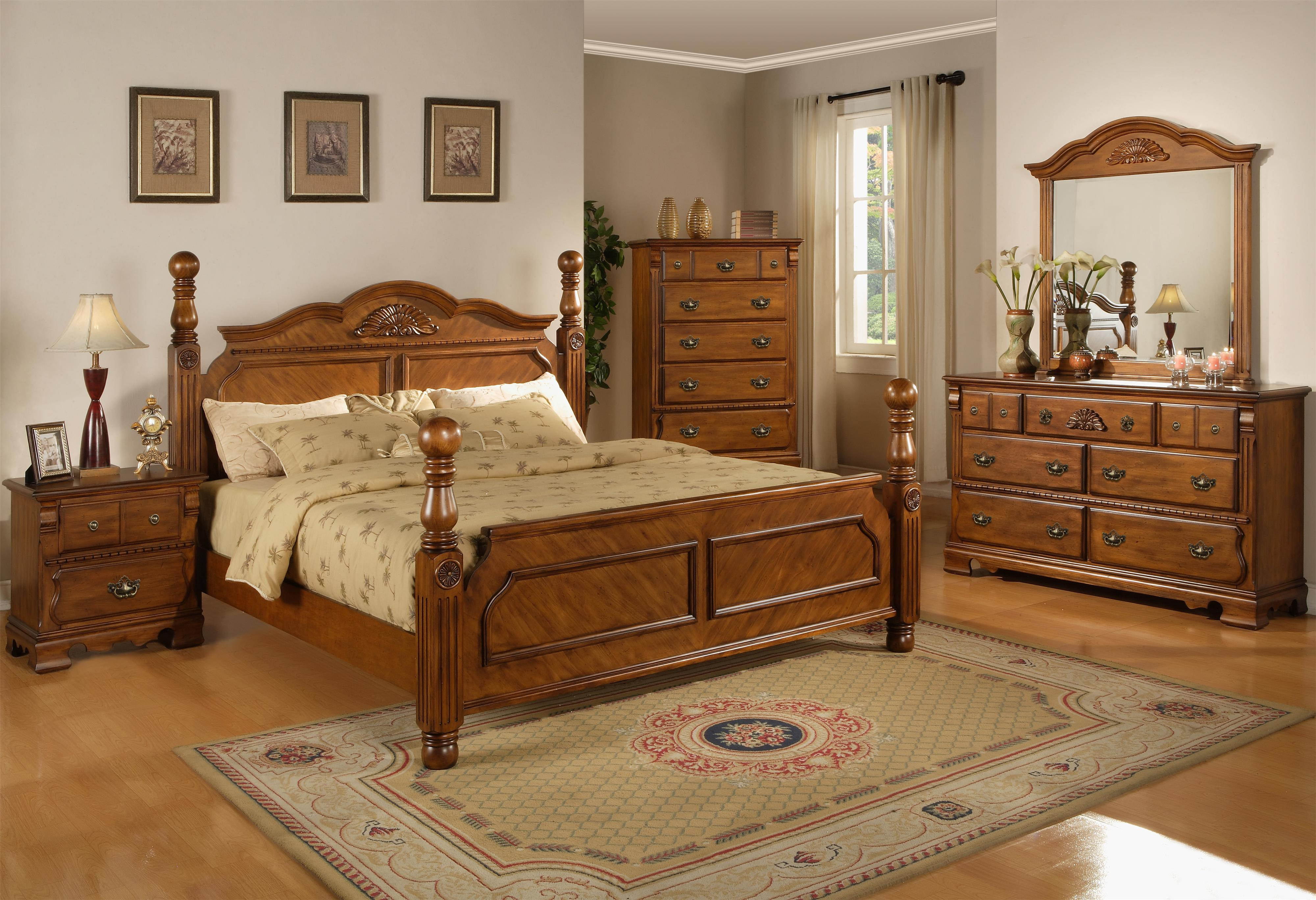 Lifestyle 0132A Queen Headboard Bed w Reeded Posts