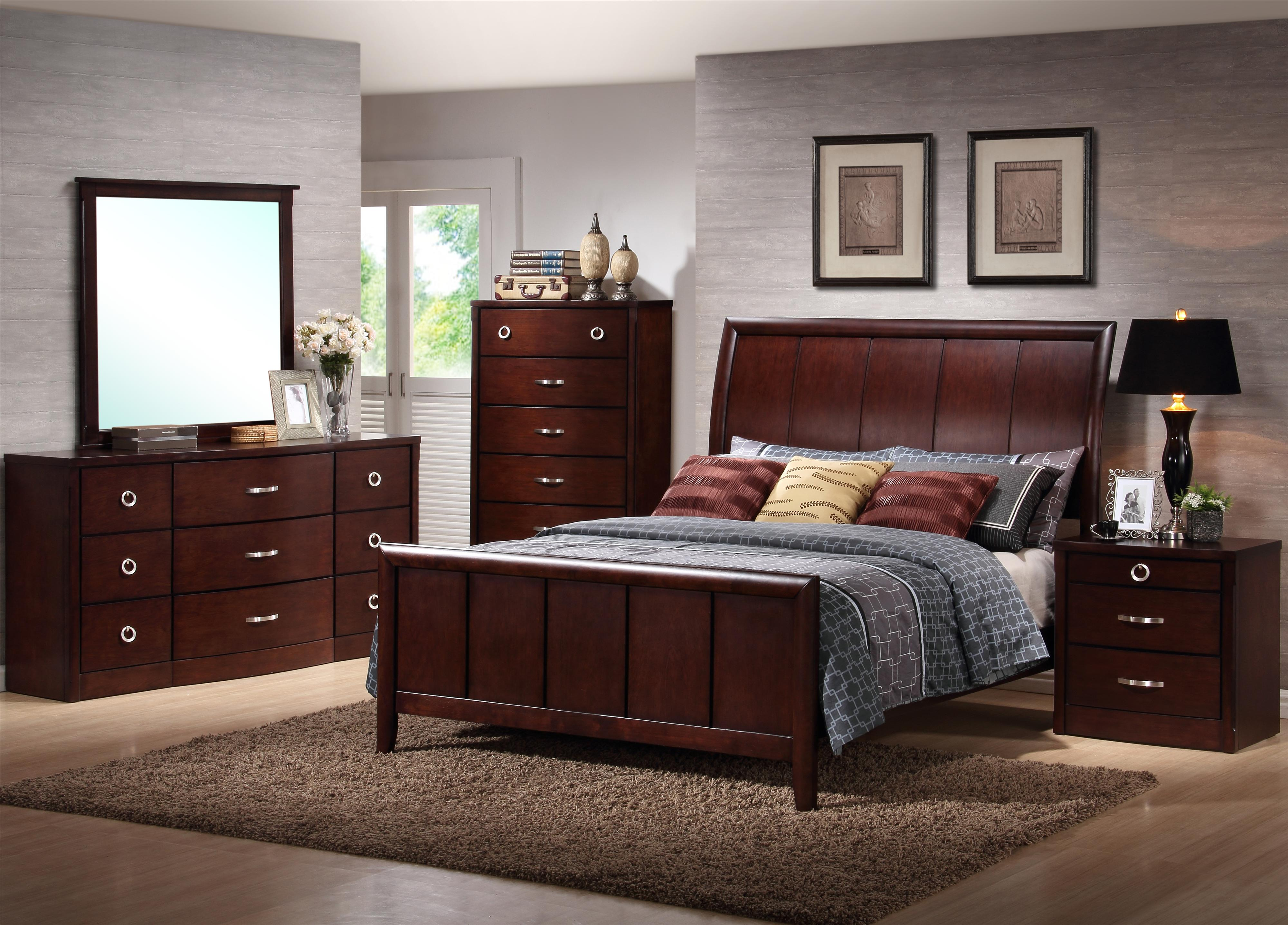 Lifestyle Furniture Bedroom Sets Lifestyle 1173 Queen Bed W Sleigh Headboard Furniture Fair