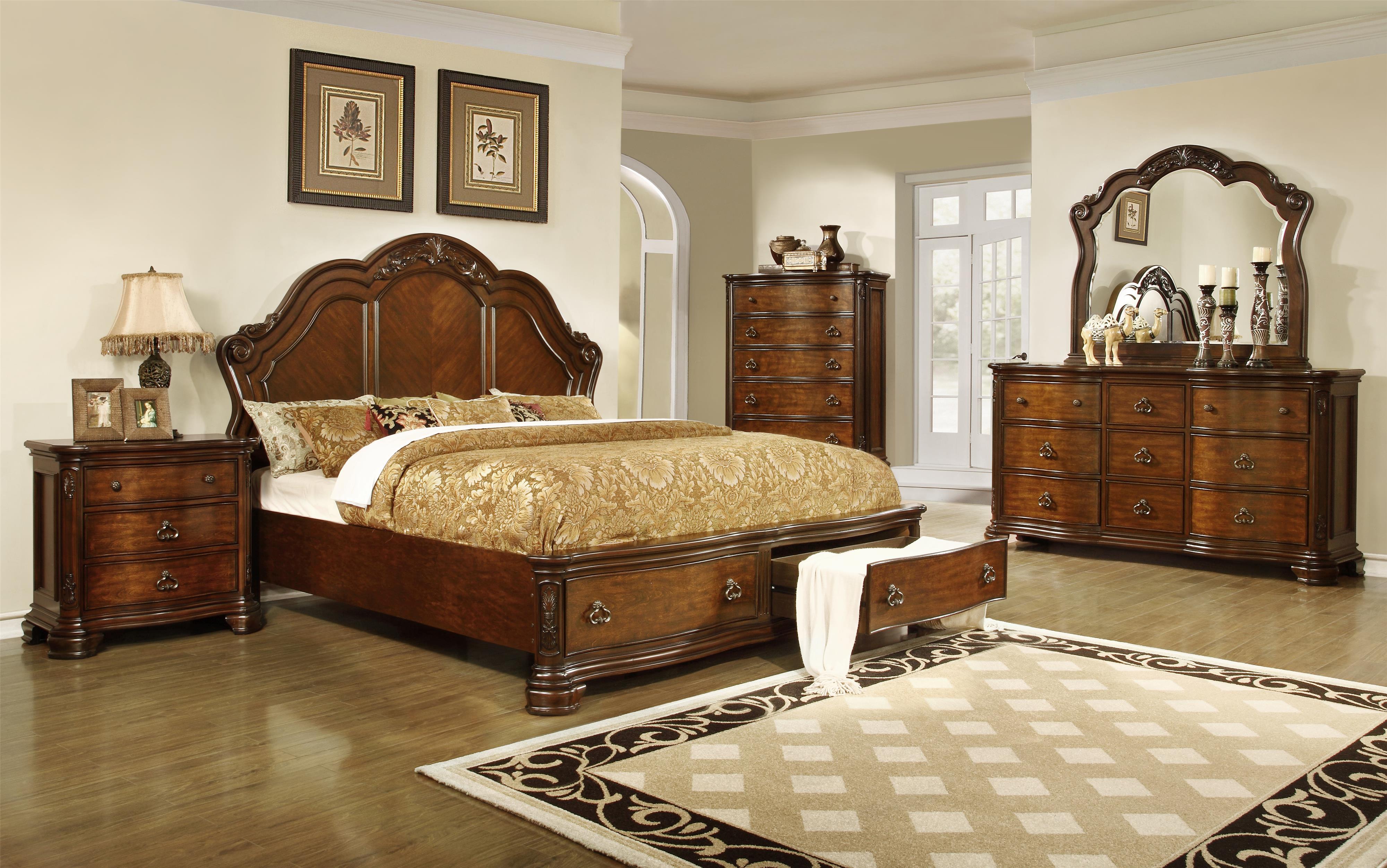 Lifestyle Tobacco King Bedroom Group - Item Number: 5390A K Bedroom Group 1