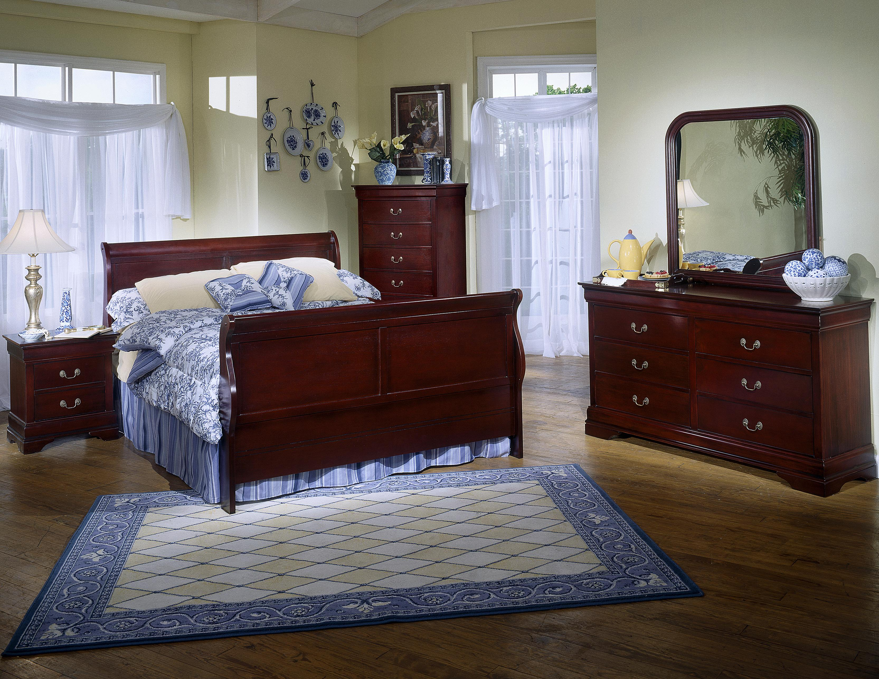 Lifestyle Bedroom Furniture Lifestyle 5933 6 Drawer Dresser Rounded Square Mirror Combo