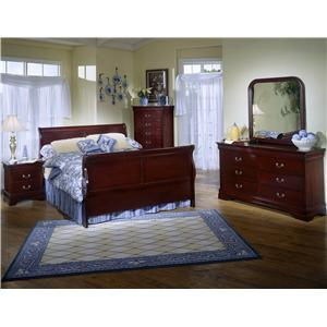 Lifestyle Louis Estates 4 Piece Queen Bedroom Set