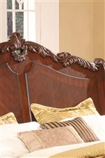 Acanthus Leaf Paneled Headbboard