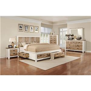 Lifestyle Tommy 5-Piece King Storage Bedroom Set