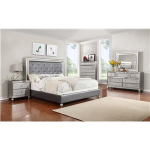 Lifestyle Glam 5PC Queen Bedroom Set