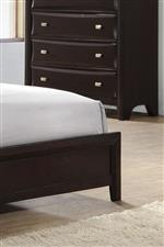 Platform bed footboard