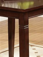 Detail of Table Edge and Carved Detail on Tapered Leg