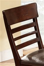 Detail of Ladder Back on Pub Chair