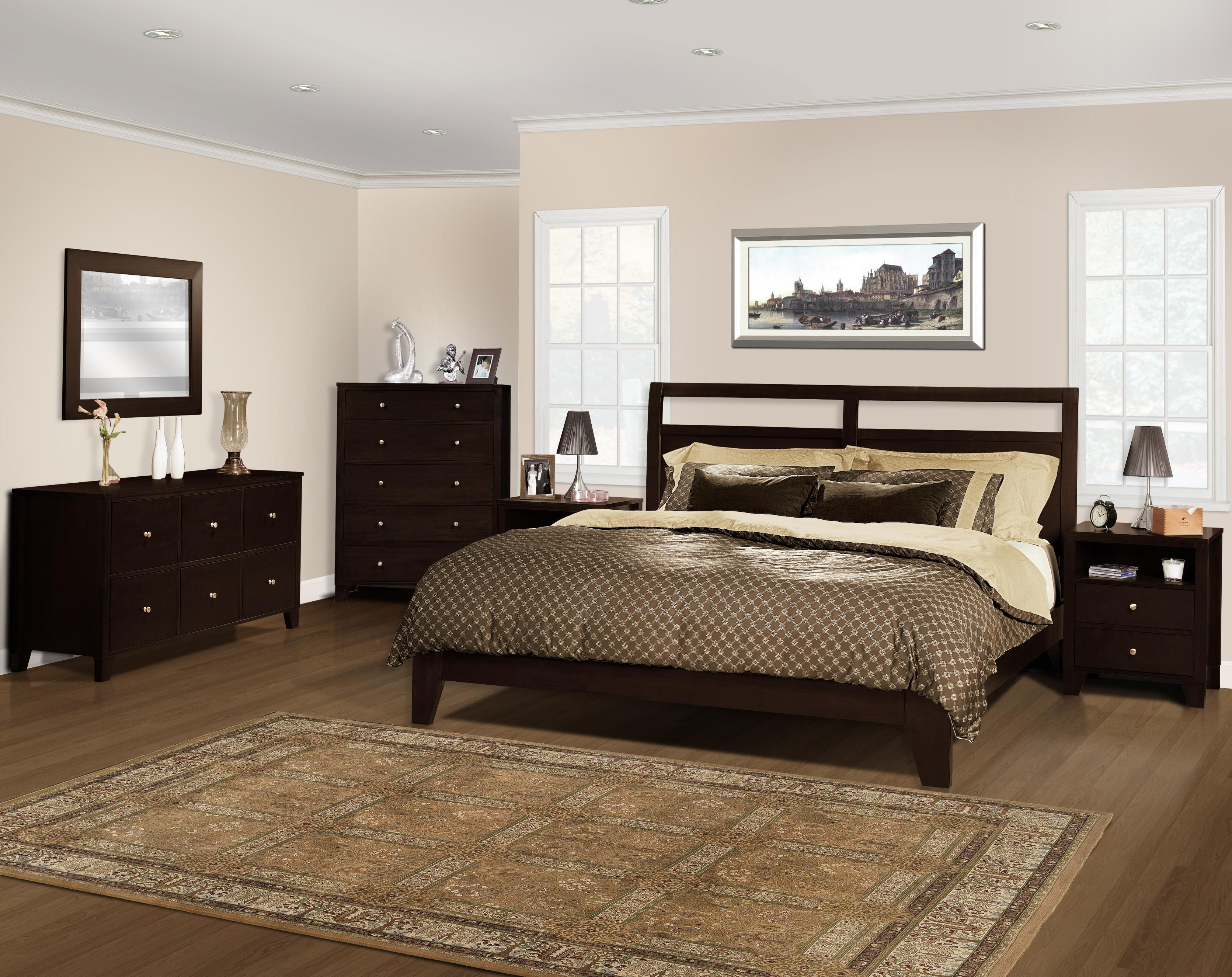 Lifestyle Bedroom Furniture Lifestyle Solutions Dominique Queen Low Profile Headboard Bed