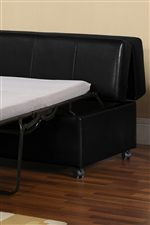 Ottoman with Casters Features Pull-out Mattress For Extra Bed Anywhere