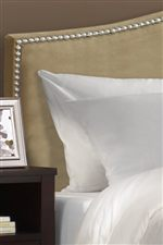 Upholstered with a Quality, Cream-Colored Fabric