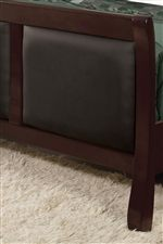 Leather Padded Panels on Headboard and Footboard