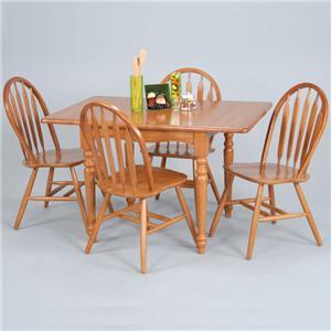 Ligo Products Country Classics Five Piece Drop Leaf Table U0026 Windsor Side  Chairs Set
