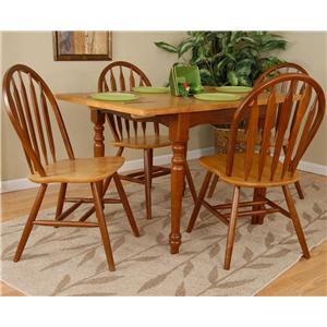 Charming Ligo Products Country Classics Empire Drop Leaf Round Dining Table