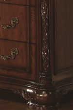 Carved Pilasters add a Sense of Elegance