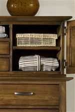 Dressing Cabinet Deck with Open Compartments