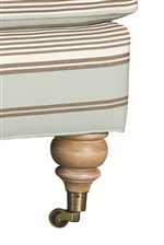 Select Items Have Spindle Legs with Casters, Enabling the Item to Move Easily From Room to Room