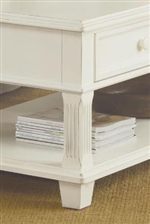 Square Tapered Feet with Reed Molding on Select Items
