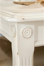 Wood Rosette Details Add Character to Select Tables