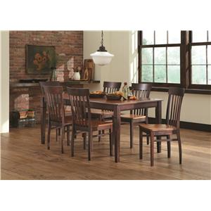 American Amish Anniversary II Dining Set with Venice Side Chairs