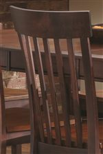 Chairs Feature Slat Backs