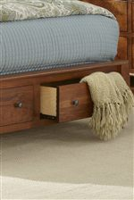 Bed Offers Footboard Storage Drawers