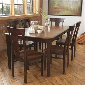 American Amish Solid Wood Dining Sets Laker Solid Wood Contemporary Dining Side Chair