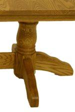 Carved Pedestal Base.