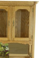 Wood Framed Glass Doors on China Hutch.