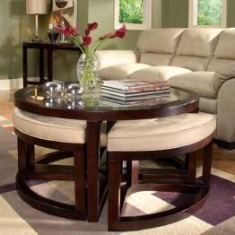Belfort Select Juniper Round Glass Top End Table