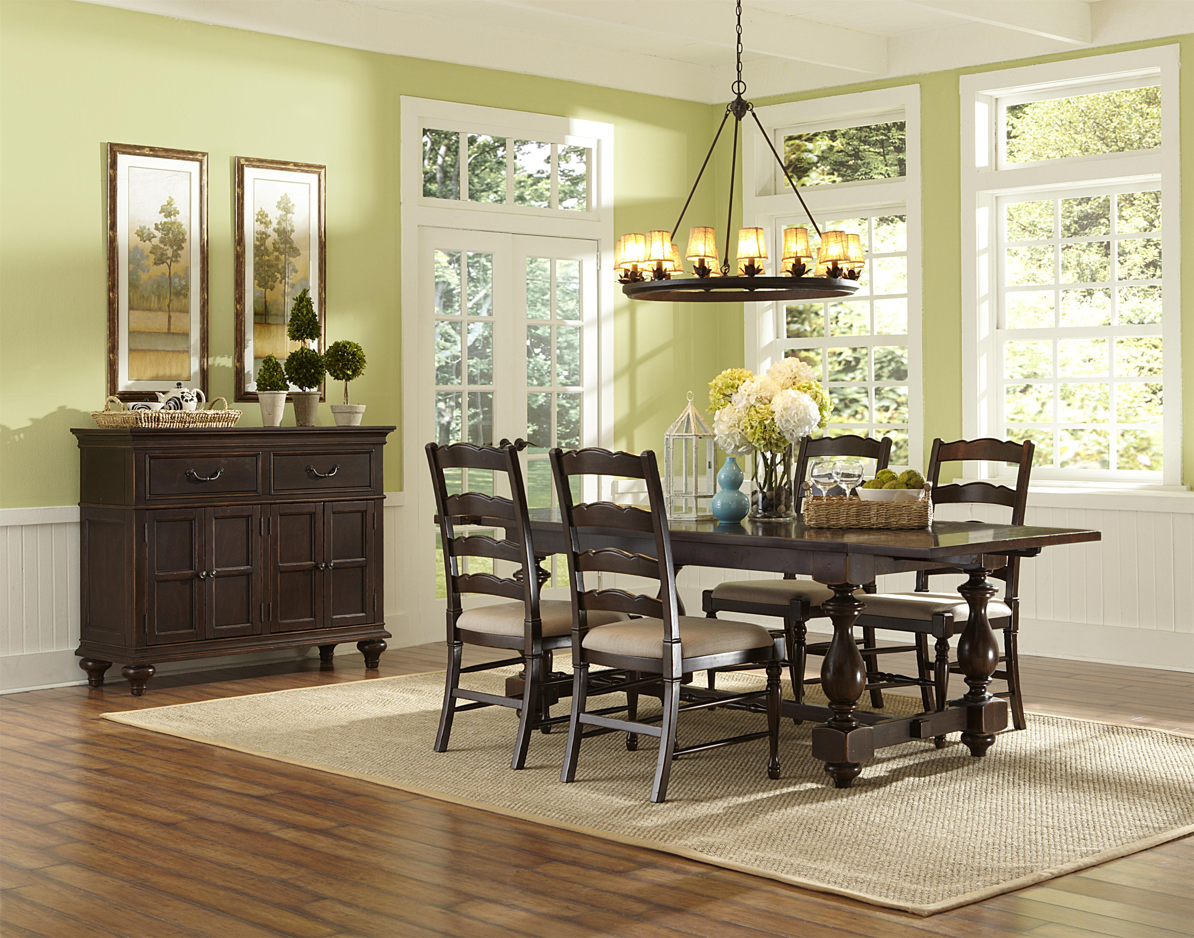 Magnussen Home  Loren Casual Dining Room Group - Item Number: D2470 Dining Room Group 2
