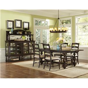 Magnussen Home  Loren 4 Piece Table, Bench and Chair Set