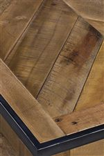 Wood Panel Tops with Metal Edge