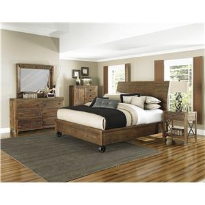 Magnussen Home  River Ridge King Headboard and Footboard Panel Bed