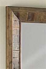 Solid Wood Detailing Around Mirror