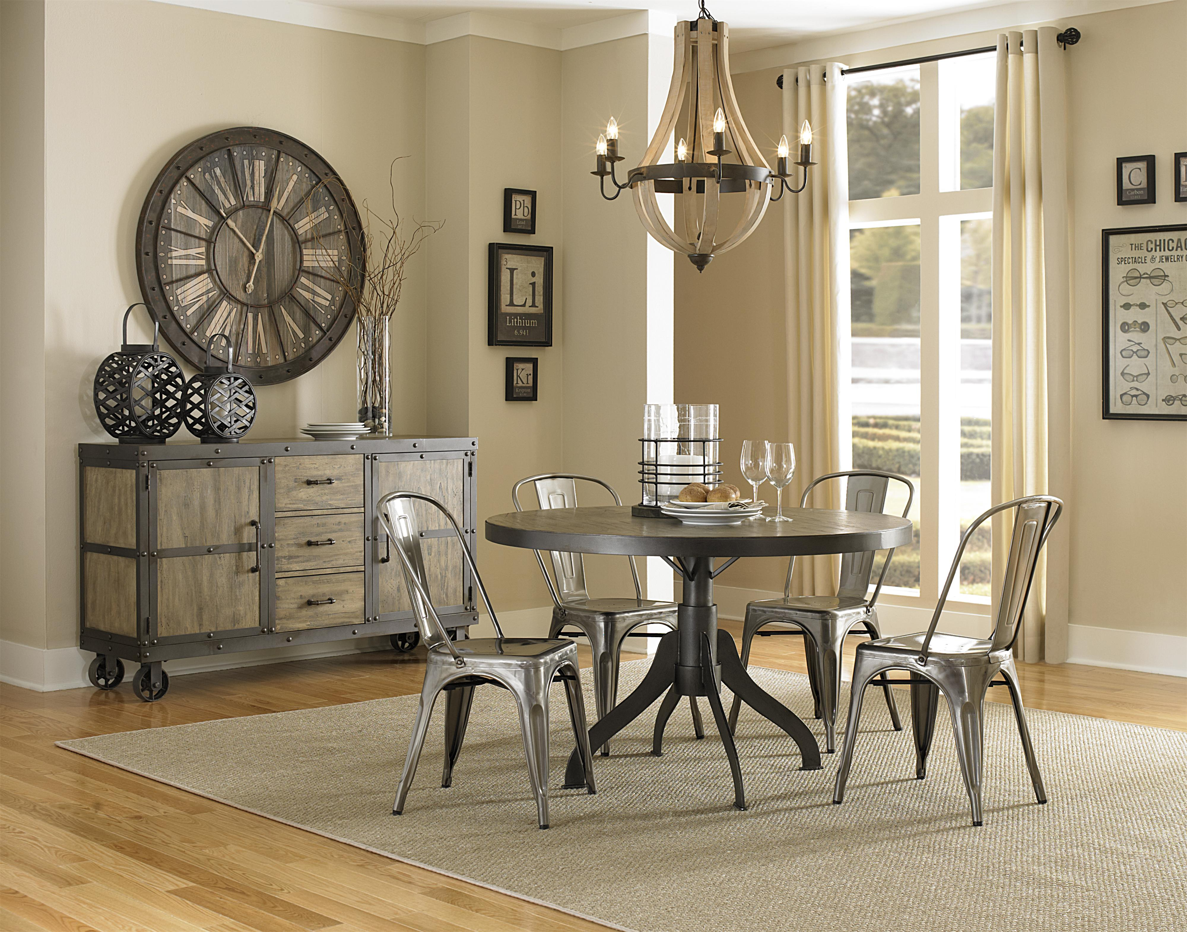 magnussen home walton rustic casual dining table with natural