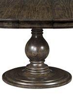 Elegantly Turned Wood Pedestal Table Base