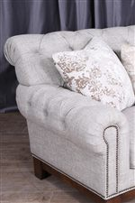 Comfort and Elegance Exude from the Stylish Rolled Arm Sofa with Button-Tufting