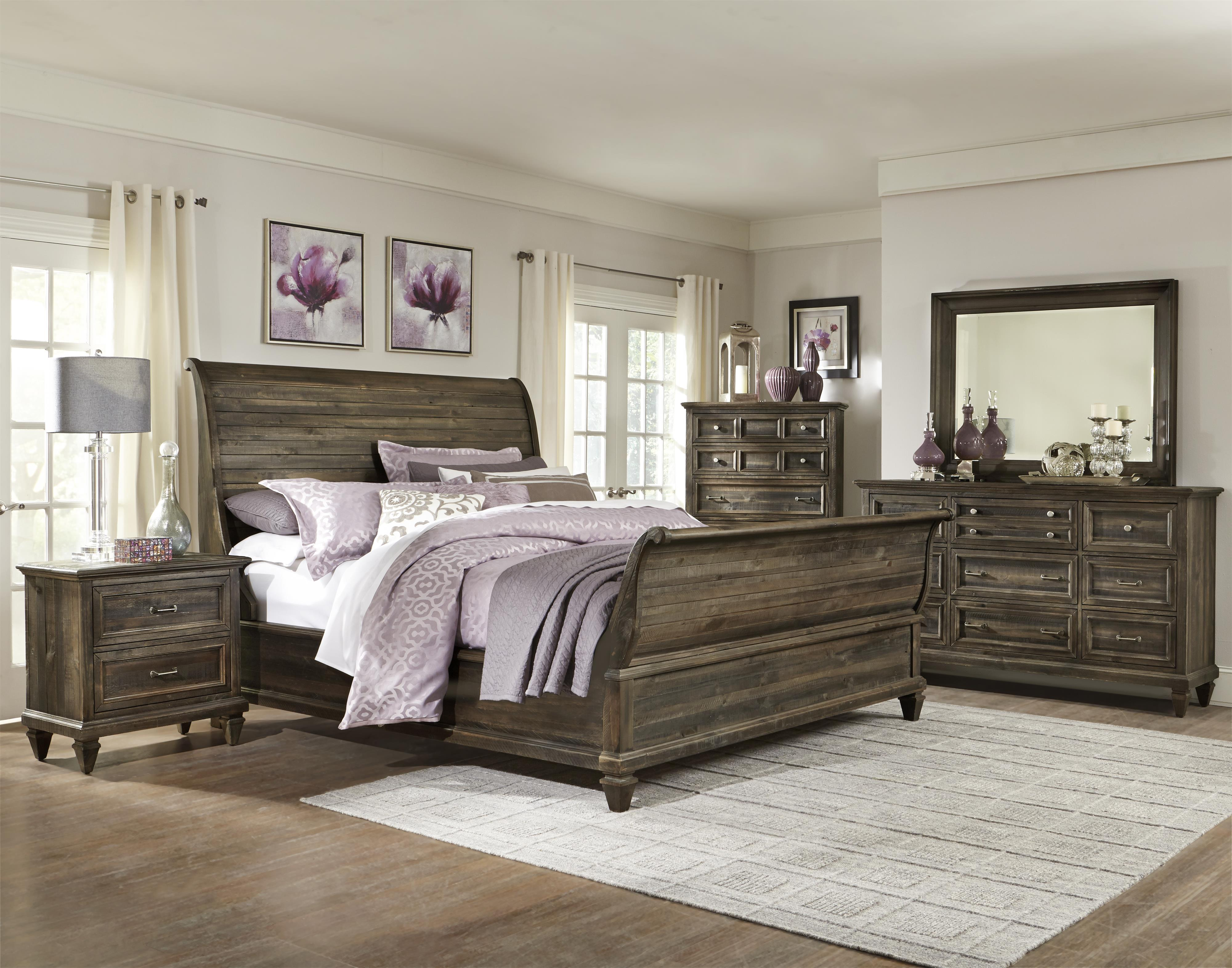 Magnussen Home Calistoga Queen Panel Bed with Headboard and