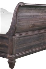 Sleigh Bed Features Subtle Curves