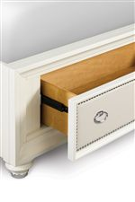 Upholstered Bed Is Available With or Without Storage Footboard