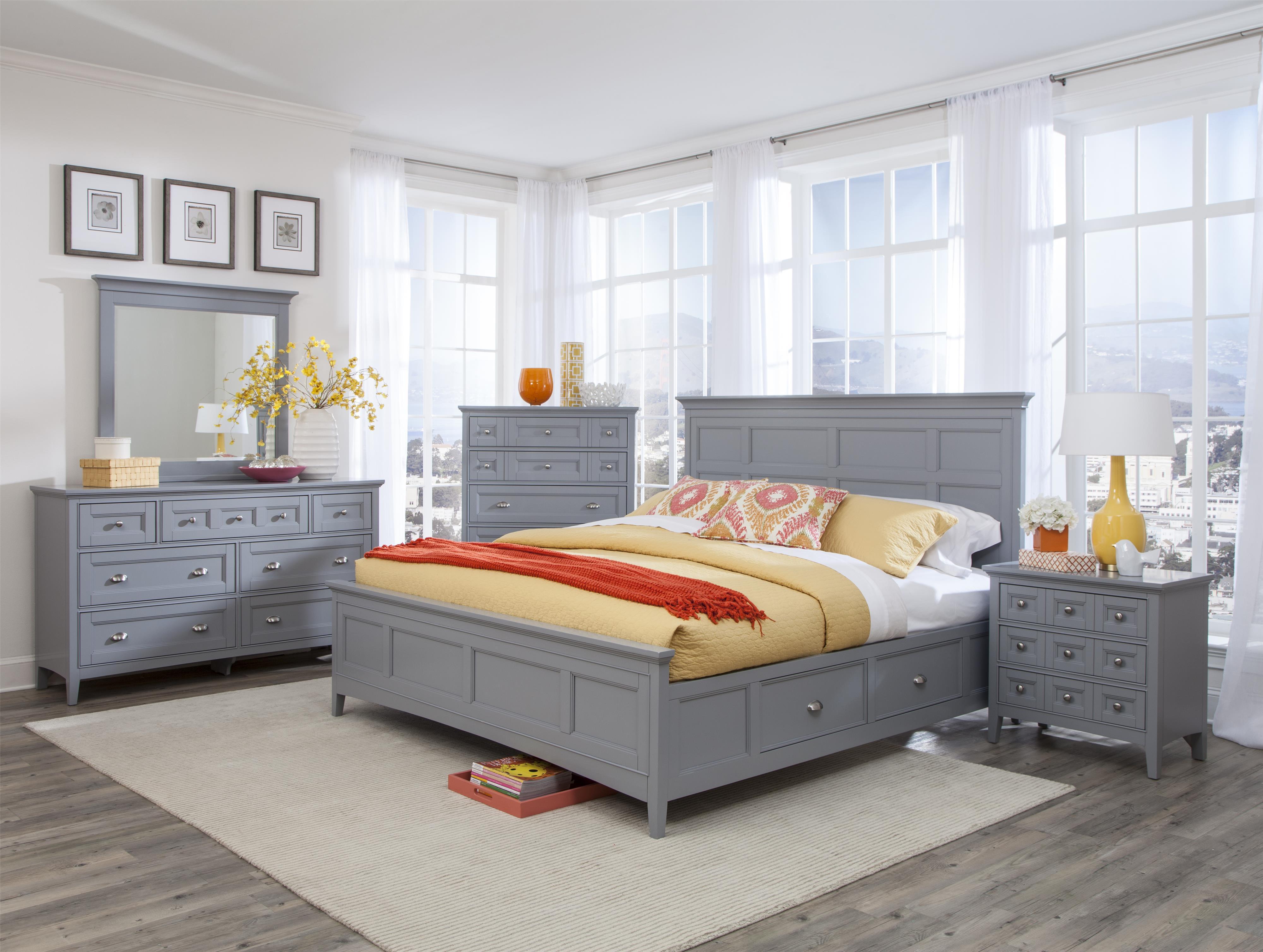 Magnussen Home Mason 5PC Queen Bedroom Set - Item Number: B3572 Q Bedroom Group 1