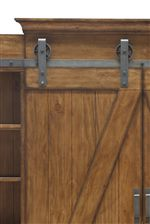 The Board and Batten Design Alongside Rustic Hardware, Like This Sliding Barn Door, Create a Handy Storage Piece with a Fashion-Forward Industrial, Rustic Appeal