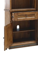 Features Both Open and Hidden Storage for Versatility of Use