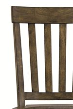 Horizontal Slat Chair Back