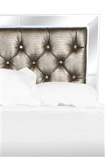 Create a Bedroom Fully Awash in Glamour with this Incredibly Chic, Button-Tufted Bed in Faux Croc Upholstery