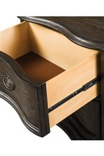 Drawers Feature Either Full-Extension Ball-Bearing Glides or Metal Center-Track Kenlin Glides