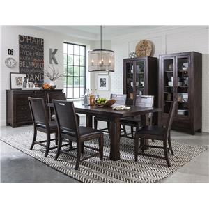 Magnussen Home Pine Hill Formal Dining Room Group 1