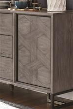 Intricate Woven Pattern Decorating Door Panel