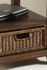 Wicker Basket Provide Additional Storage